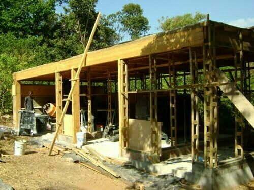 Timber frame wide shot
