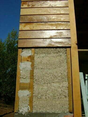 wooden cladding & hempcrete