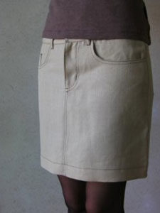 Hemp-Ladies-Jean-skirt