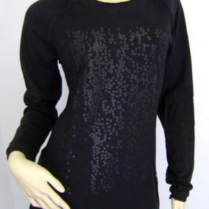 High low longsleeve black