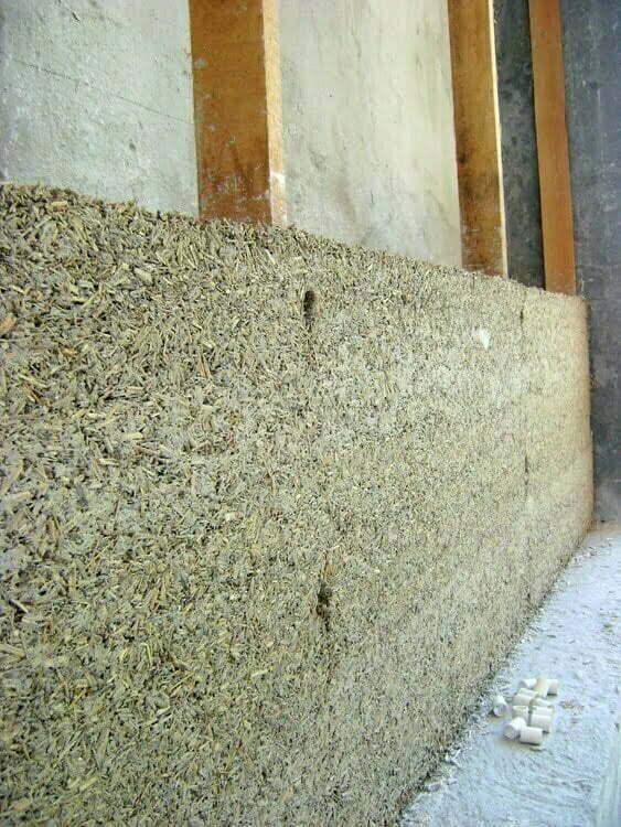 layers drying around timber frame