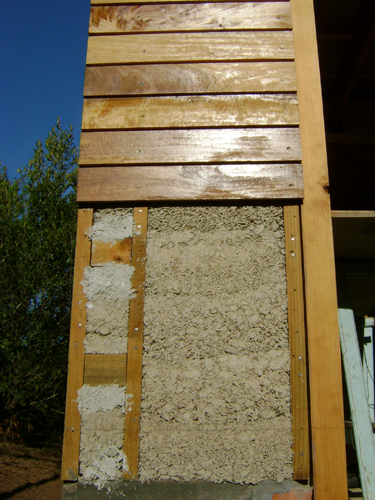wooden cladding & hempcrete