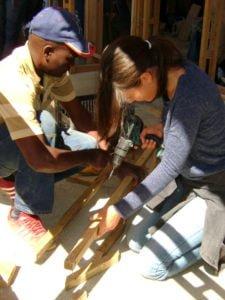 girl drilling